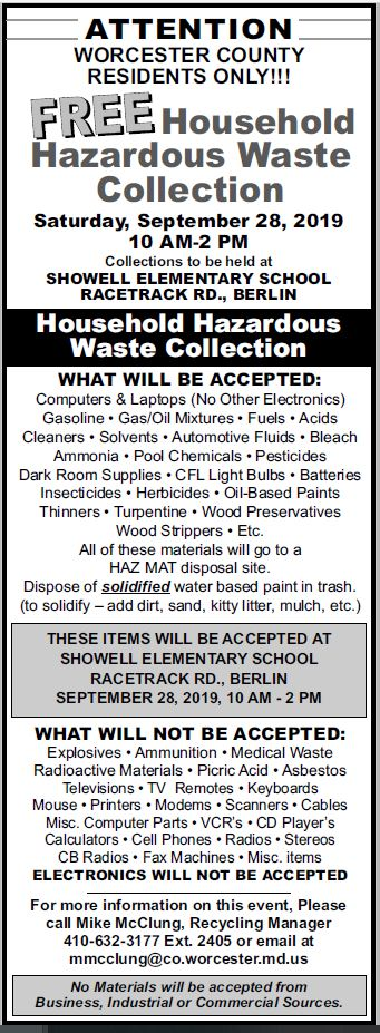 Recycling | Worcester County, Maryland