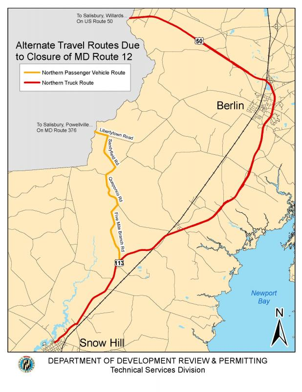 alternate travel routes due to closure of route 12