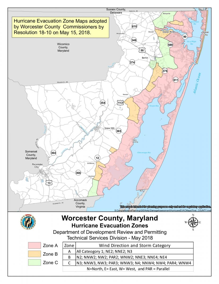 Evacuation Zones Map | Worcester County, Maryland on new zeal map, jurisdiction c map, university of wisconsin hospital map, pa map, mi map, michigan heart map, louisiana map, chesapeake bay map, tz map, mp map, nh map, ri map, de map, ma map, vg map, ca map, va map, mo map, ae map, baltimore food map,