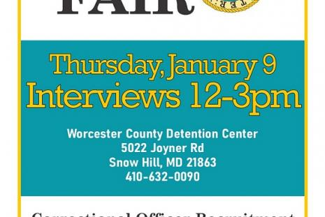 Correctional Officer Job Fair - January 9th Worcester County Jail