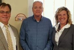 Tim Sherman, of the Small Business Development Center (SBDC) at Salisbury University doubled his office hours at the Worcester County Economic Development office in Snow Hill to provide weekly consulting services to business owners and would-be entrepreneurs. Pictured are SBDC Director John Hickman (from left,) Tim Sherman, and Worcester County Economic Development Director Merry Mears.